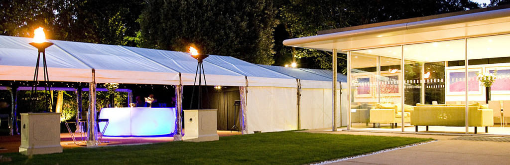 contemporary modern marquee