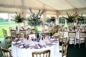 Floral marquee decor