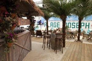 Decking & Beach Bar marquee party