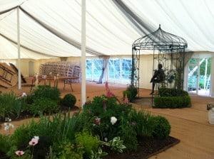 Garden in marquee event Surrey