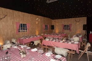 Ski Chalet marquee party