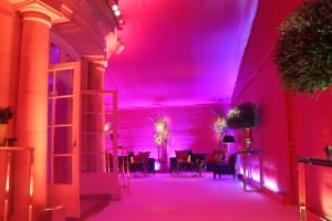Pink lined marquee party