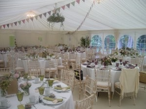 Marquee bunting decor
