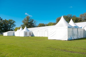 large corporate marquee