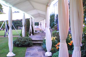 covered walkways marquee hire