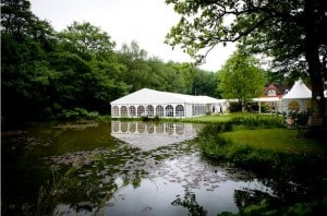 Outdoor wedding marquee Surrey