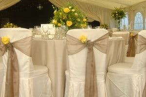 marquee banqueting tables