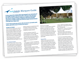 Marquee Hire Guide