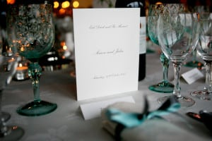 marquee table dressing