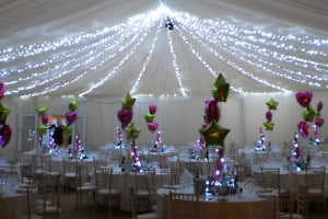 sparkling christmaas marquee