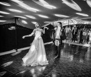 First dance in a marquee for wedding Surrey