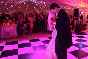 wedding chequered dance floor