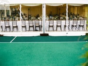 Tennis court marquee