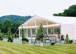 Marquee on Tennis Court
