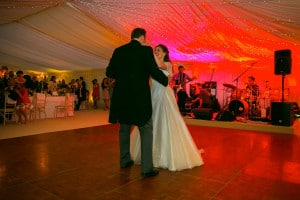 wooden marquee dance floor