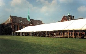 Pole marquee for corporate event