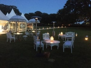 Outdoor Surrey wedding marquee