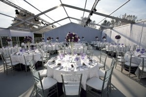 Clear marquee wedding