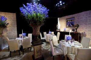 Lavender dining marquee party