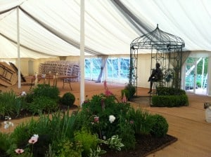 Garden in marquee event Surrey