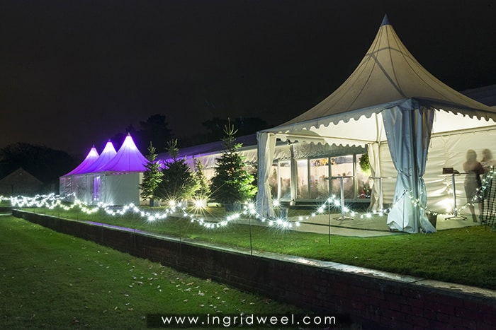 Christmas parties marquee