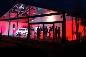 corporate evening event marquee