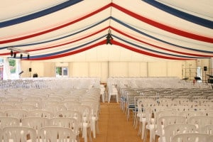 corporate marquee seating