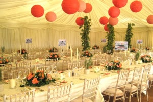 Chinese lantern marquee decoration