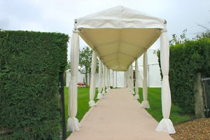 winter marquee covered walkway