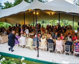 Outdoor stretch tent marquee wedding Surrey