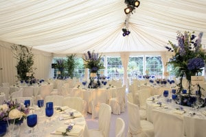white wedding garden marquee