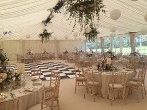 Classic marquee wedding Surrey