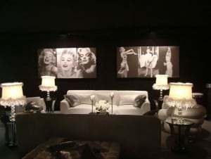Black and white Hollywood glamour