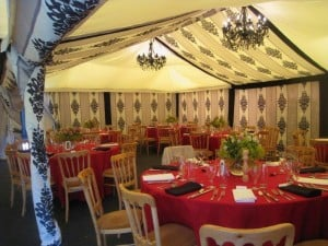 Black and white marquee decor