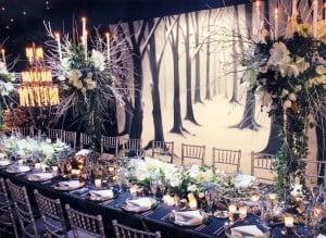 Winter marquee decor