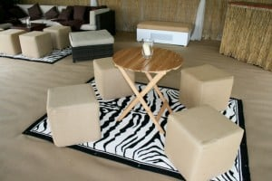 Cube zebra marquee seating