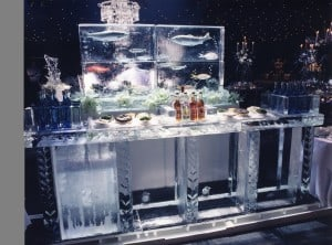 Ice bar marquee decor