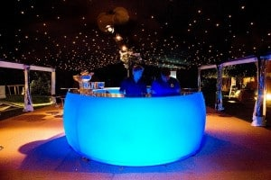 Blue bar in marquee
