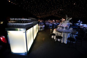 Marquee black and white decor