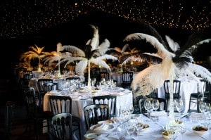 Black and white marquee great gatsby decor
