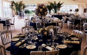 Marquee wedding table