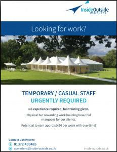 A5 casual recruitment flyer