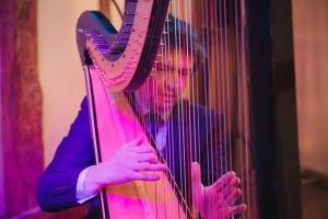 Harpist Tom Moth