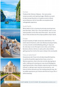 Honeymoon guide pages