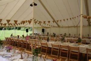 Unlined Traditional Pole Marquee traditional pole tents wedding marquees