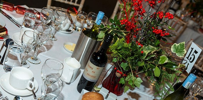 Christmas Parties table layout