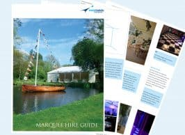 Marquee Hire Guide Cover Image top ten tips for hiring a marquee