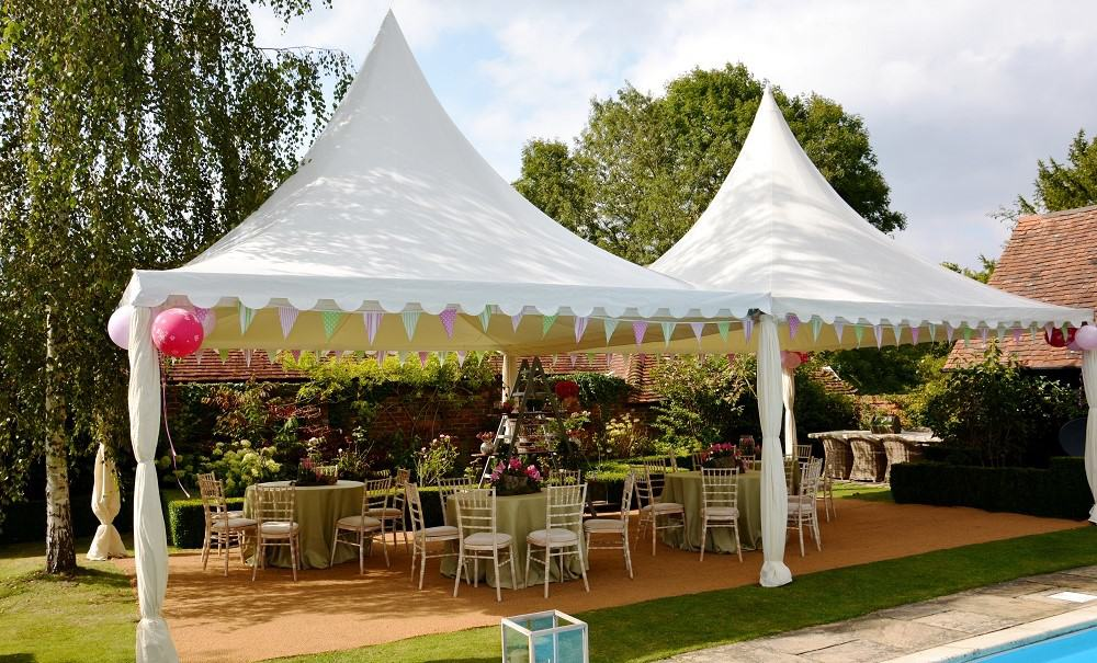 Chinese hat pagoda marquees garden party
