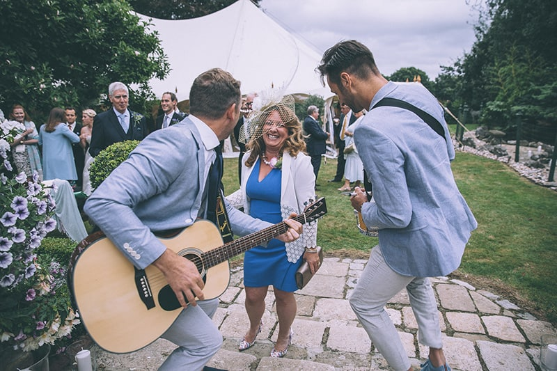 Wedding marquee entertainment