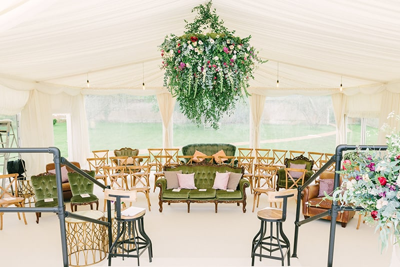 Marquee wedding floristry